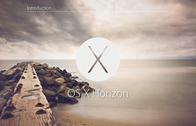 网站制作之OS X Horizon - Apple Design Concept